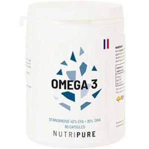 Oméga 3 3000mg • Huile de Poissons Sauvages EPAX Haute Concentration en EPA & DHA & Biodisponible • Oxydation minimale • Pêche Durable • 90 gélules • Made in France • Nutripure