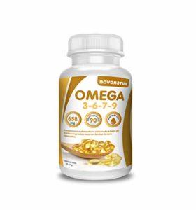 Oméga 3 6 7 9, 90 gélules enrichies d'huile de lin, onagre, olive, germes de blé et noix de Macadamia, bénéfiques pour le cœur, la vue et le cerveau, novonatur