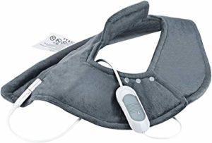 OMorc Chauffe Nuque et Épaules Portable avec 3 Modes de Chaleur, Fonction d'arrêt Automatique en Cas de Surchauffe, Idéal pour Relaxation et Détente du Corps