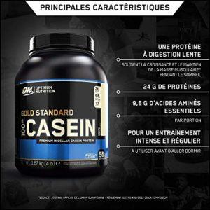 OPTIMUM NUTRITION 100% Gold Standard Casein Protéine Vanille Crémeuse 1.81 kg