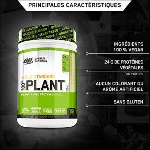 Optimum Nutrition Gold Standard 100% Plant Protéine Végétale Vanille 684 g