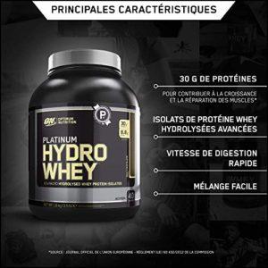 Optimum Nutrition Protéine Platinum Hydro Whey Chocolat 1590 g