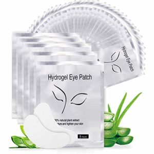 Patch Extension De Cils, Nopson 50 Paires Gel Patch de Cils Cils Pad Non-Lash Extension de Cils Eye Masque Outil de beauté Collagène sous le Patch Oeil