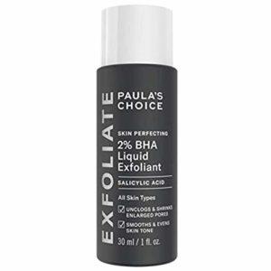Paula's Choice 2% BHA Lotion Exfoliante | Anti Rides, Points Noirs et Pores Dilatés | Exfoliant Pour Visage | Lotion avec Acide Salicylique | Peaux Mixtes à Grasses | Taille de Voyage (30 ml)
