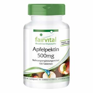 Pectine de Pomme 500mg Comprimés Vegan – 100 Pièces – Avec Calcium & Vitamine C