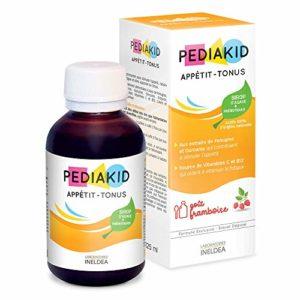 Pediakid – Sirop appétit-tonus à la framboise – 125 ml flacon – Appétit-tonus pour enfants
