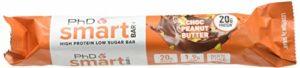 PhD Nutrition Smart Bars. 12 bars x 64g. 12 Chocolate peanut butter