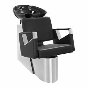 Physa SORRENT Bac à Shampoing Professionnel avec Douchette Lave-Tête (Cadre: Acier, Garnissage: Mousse, Eco-Cuir, Dimensions Évier: 50,5 x 60 cm, Dimensions: 120 x 62,5 x 95 cm)