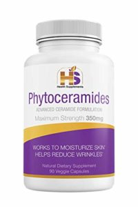 Phytoceramides, 350 Milligram, 90 Veggie Capsules with advanced Ceramides Formulation (3 months supply) Deep Skin Moisturizing, Plant Derived, GMO and Gluten Free – USA Made