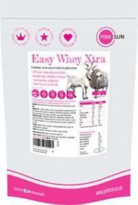 PINK SUN Easy Whey Xtra Poudre de Concentré de Protéine de Lait de Chèvre et de Mouton 1000g (80% protein) Non Dénaturé non Aromatisé Pas de Sucre Ajouté 1kg