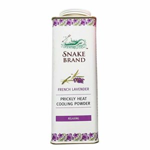 Prickly Heat Powder Snake Brand Cooling Lavender 300 grams.,
