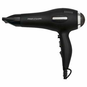 ProfiCare PC-HT 3017 AC-Sèche-cheveux professionnel avec fonction ioniseur Cool Shot, moteur professionnel AC et câble extra long (environ 2 m), 3 niveaux de température et de puissance