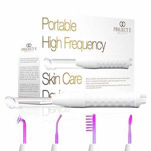 Project E Beauty Haute fréquence D'arsonval peau raffermissant anti-rides acné spot soin de la peau (Violet pour l'acné et la tache)