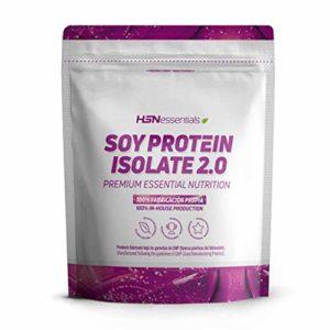 Protéine de Soja de HSNessentials | Protéine Végétalienne | Soy Isolate Protein | Sans Gluten, Sans Cholestérol, Sans Lactose, Sans Saveaur, 500g