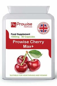 Prowise Cherry Max 750mg 90 Capsules – High Strength Freeze Dried Montmorency Cherries – UK Manufactured to GMP for Consistent High Quality