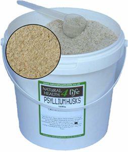 Psyllium Husks Boîte de rangement avec pelle 500 g