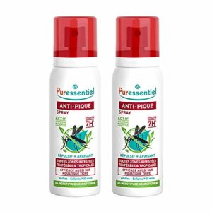 PURESSENTIEL Spray Anti-pique – Lot de 2 Spray Repulsif + Apaisant – 2x75ml