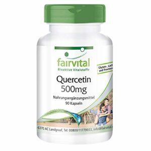 Quercétine 500mg – 90 gélules – Quercétine 500mg de Fairvital est un complément alimentaire hautement dosé avec de nombreuses propriétés saines