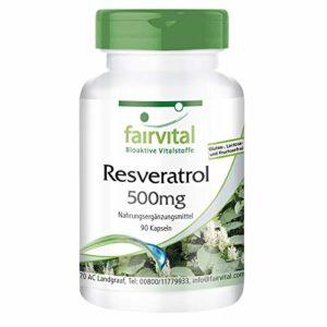 Resvératrol 500mg – 90 gélules – Resvératrol est normalement considéré comme un ingrédient actif du vin rouge – Le resvératrol a un fort potentiel d'oxydoréduction et capteur de radicaux