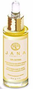 rosenöl Sérum Eau de Rose: humidité Spend Firming Sérum de visage avec Rose Absolue & Huile d'Argan–100% naturel cosmétique–Jana Cosmetics–Fabriqué en Europe