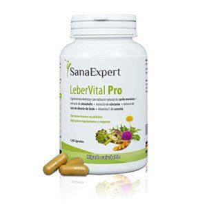 SanaExpert Leber Vital Pro, capsules de purification pour le foie avec chardon-marie, 120 pièces
