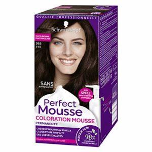 Schwarzkopf – Perfect Mousse – Coloration Mousse Permanente sans Ammoniaque Cheveux – Chocolat Brownie 365