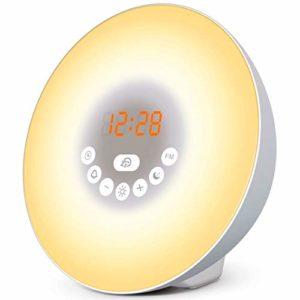 Simulateur d'aube pour un réveil lumineux tout en douceur – Dormez mieux avec le mode Nuit Noire – Vivez des matins plus zen – Réveil luminothérapie TL850 par Top Life