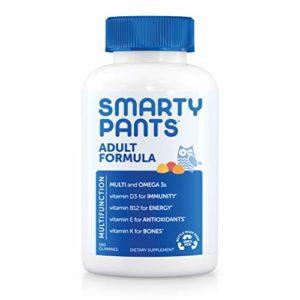 Smartypants Adulte Complete Gummy vitamines: Alimentaire Multivitamines et Oméga 3DHA/EPA Huile de poisson, DE Méthyle B12, la vitamine D3, 180fils (30jours d'approvisionnement)