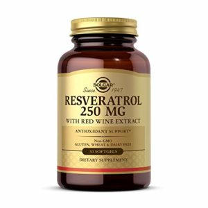 Solgar – Resveratrol – Extrait de vin rouge – 250 mg – 30 gélules