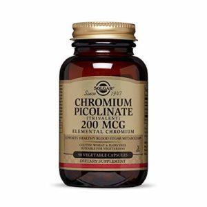 Solgar Chrome Picolinate 200 mcg 90 Gélules Végétales