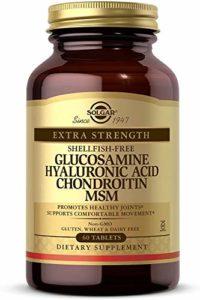 Solgar Glucosamine Hyaluronic Acid Chondroitin MSM-Shellfish-Free Tablets, Shellfish-Free 60 Tabs