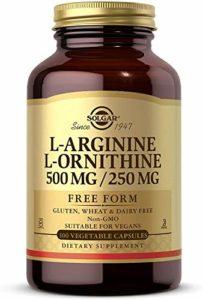 Solgar L-Arginine L-Ornithine 500 / 250 50 Gélules Végétales