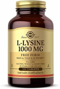 Solgar L-Lysine 1000 mg Tablets, 100 Tabs 1000 mg