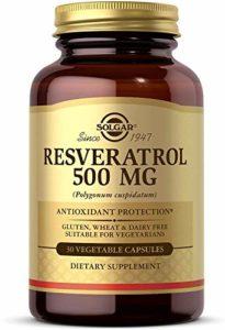 Solgar Resveratrol 500 mg Vegetable Capsules, 30 V Caps 500 mg