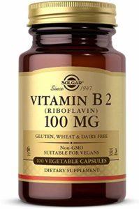 Solgar, Vitamin B2, 100 mg, 100 Veggie Caps