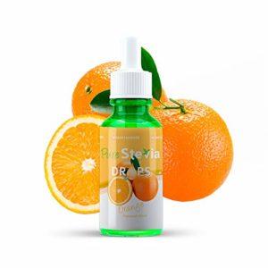 Stevia Gouttes de Orange 50ml – Édulcorant Liquide – Ingrédients Naturels (Orange) – PureStevia