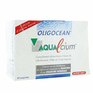 Super diet – Aqualcium – 60 comprimés – Calcium d'origine marin, favorise le maintien du capital os