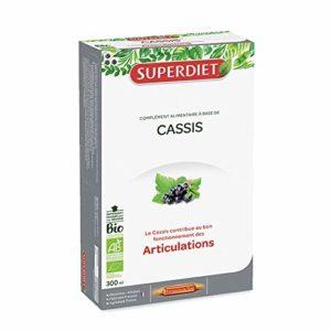 SuperDiet Cassis Bio Ossature Articulations 20 ampoules de 15ml soit 300ml