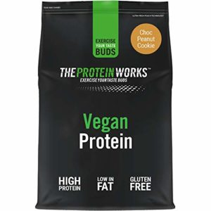 THE PROTEIN WORKS Protéine Vegan, Cookies Choco-Cacahuète, 1kg