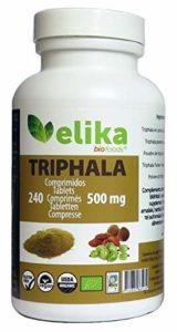 Triphala Bio Himalayan, Indien, Ayurveda biologique 240 comprimés sous forme de poudre 500 mg/nettoyage des organes, du système digestif, du côlon et du sang/prix imbattable.
