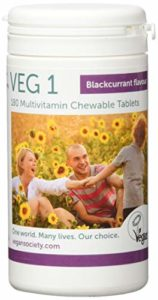 Veg1 Blackcurrant Multivitamins and Minerals Tablets – Pack of 180 Tablets
