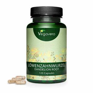 Vegavero® Racine de pissenlit | 140 mg | 120 Gélules | Extrait à 10:1 | Fortement dosées | Zéro Additif | Cure de 2 mois (deux gélules par jour) – 100% naturel | Végan