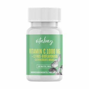 Vitamine C 1000 mg + Bioflavonoïdes – Temps de libération – Comprimés végétaliens (100 comprimés végétaliens)
