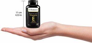 Vitamine E Naturelle 400 UI (D-Alpha-Tocophérol)   200 capsules: quantité pour plus de 6 mois   Antioxydant qui protège les cellules contre les dommages liés au stress oxydatif   Non-OGM   de Zenement