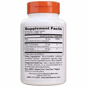 Zinc-Carnosine Complexe avec PepZin Gl, 120 Veggie Caps – Doctor est le meilleur