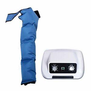ADMLZQQ Masseur De Jambes avec 4 Coussins d'air, Pressothérapie Machine De Drainage Lymphatique De Pression d'air, Massez Les Muscles, Soulage La Fatigue Physique Et Le Stress,Host+Arm