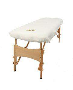 aztex Housse de protection pour table de massage classique, adaptée aux salons, spas et thérapeutes, avec ou sans trou facial, blanc – avec trou facial