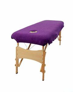 aztex Housse de protection pour table de massage classique, adaptée aux salons, spas et thérapeutes, avec ou sans trou facial, violet – avec trou facial