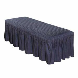 Baoblaze Jupe de Table de Massage – Bleu Foncé-180x60cm