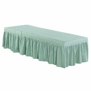 Baoblaze Jupe de Table de Massage épaississante en Microfibre de 75 X 27 Pouces – Vert 3